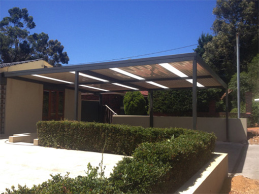 Flat carport patio by Perth Patio Magic